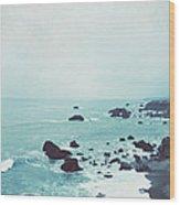 Dusk At The Sea Wood Print