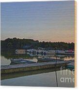 Dusk Dock 20140718 Wood Print