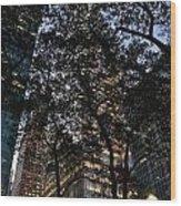 Dusk In Bryant Park Wood Print by Sherri Quick