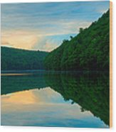 Dusk On Crescent Lake Wood Print