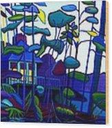 Dusk on Massapoag Wood Print