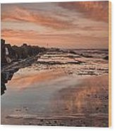 Dusk On The North Jetty Wood Print
