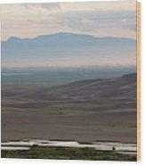 Dusk Over Medano Creek And The San Luis Wood Print