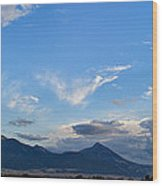 Dusk Over The Gallatin Range Wood Print