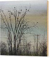 Dusk Sky Wood Print