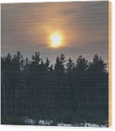 Dusky Sunset Wood Print
