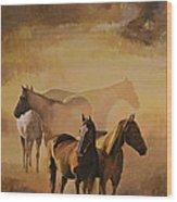 Dust Bowl Wood Print