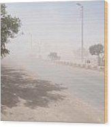 Dust Storm Wood Print