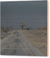 Dust Storm, Lovelock, Nevada Wood Print