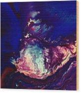 Dust Wave - Temporary Abstract Art By Kredart Wood Print