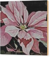 Dustie's Poinsettia Wood Print