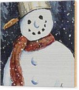 Dustie's Snowman Wood Print