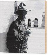 Dustin Farnum On  Set Of Light Of The Western Stars  Las Moros Ranch Southern Arizona 1918-2013  Wood Print