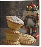 Dusting Mince Pies Wood Print
