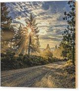 Dusty Road Wood Print