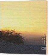 Dusty Sunset Road Wood Print