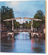 Dutch Bridge Wood Print