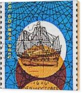 Dutch Dirk Hartog Sailing Ship Wood Print