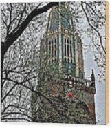 Dutch Reformed Church Tower In Enkhuizen-netherlands Wood Print