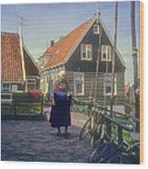 Dutch Traditional Dress Wood Print