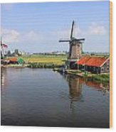 Dutch Windmills Wood Print