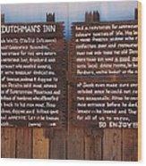 Dutchman's Inn Wood Print