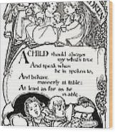 Duty Of Children  1895 Wood Print