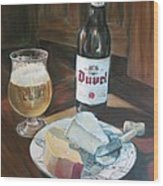 Duvel And Cheese Plate Wood Print