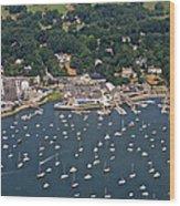 Duxbury Harbor And Downtown Duxbury Wood Print