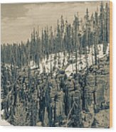 Yellowstone In The Snow Wood Print