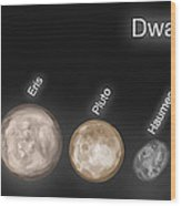 Dwarf Planets, Illustration Wood Print