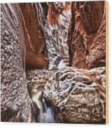 Dwarf Waterfall Wood Print