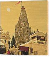 Dwarka Krishna Temple Wood Print