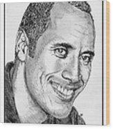 Dwayne Johnson In 2007 Wood Print by J McCombie