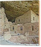 Dwellings In Spruce Tree House On Chapin Mesa In Mesa Verde National Park-colorado  Wood Print