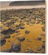 D.wiggett Rocks On Beach, China Beach Wood Print