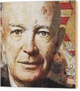 Dwight D. Eisenhower Wood Print by Corporate Art Task Force