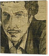 Dylan The Poet Wood Print by Debi Starr