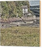 Dylan Thomas Boathouse At Laugharne 2 Wood Print