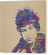 Dylan Watercolor Wood Print