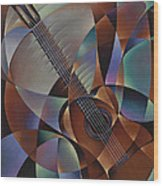 Dynamic Guitar Wood Print