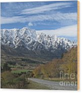 Dynamic Mountains  Wood Print
