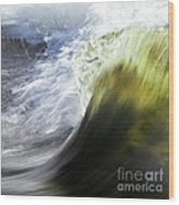 Dynamic River Wave Wood Print