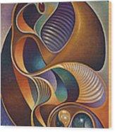 Dynamic Series #23 Wood Print by Ricardo Chavez-Mendez