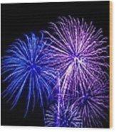 Radiant Hues Explode Wood Print