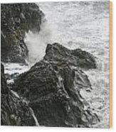 Dyrholaey Surf Wood Print