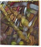 Dysmetria Of Thought In Cerebellar Ataxia 5 Wood Print by Sandra Pena de Ortiz