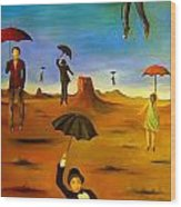 Spirit Of The Flying Umbrellas Edit 4 Wood Print