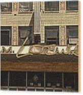 E M Loews Theater Wood Print