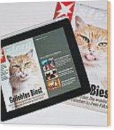 e-Magazine Wood Print